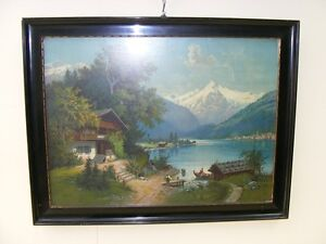 Very Nice Old Picture Frames Wood Frame With Glass Picture