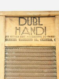 Vintage Small Dubl Handi Columbus Washboard Co Double Sided Hand Cleaning Tool