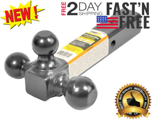 Triple Tri Ball Mount Trailer Hitch With 2 Receiver And Mount 1 7 8 2 2 5 16