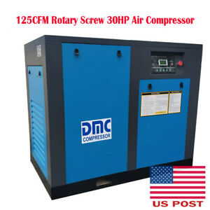 125cfm Rotary Screw 30hp Air Compressor 115psi 3 phase Electrical 60hz 3600rpm