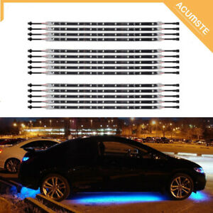 14pcs Blue Led Under Car Glow Under Body Neon Lights Bar Strip Kit Waterproof