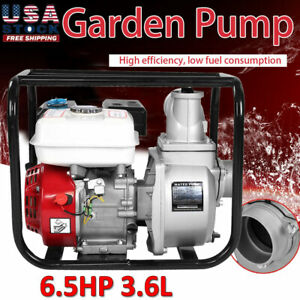 6 5 Hp Gas Water Semi Trash Pump 3 Inch Petrol High Pressure Garden Irrigation