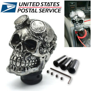 Universal Car Skull Head Manual Transmission Gear Shift Knob Skull Shifter Lever