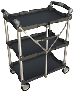 Olympia Tools 85 188 3 Shelf Collapsible Service Cart heavy Duty each Shelf Up