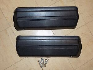 1968 1969 1970 Impala Caprice Interior Black Armrest Base Originals Nice Pair