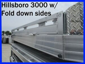 Hillsboro 3000 Series Aluminum Flatbed Body Fold Down Sides Dually Pickup 43572
