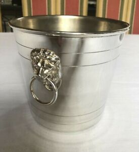 Quality Silver Plated Ice Champagne Wine Bucket With Lions By Kings Of Sheffield