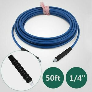 1 4 50ft Carpet Cleaning Solution Hose High Pressure 3000psi Cleaner Wand Cuff