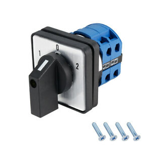 Changeover Switch 3 Position Rotary Selector Cam Switch 8 Terminals Latch