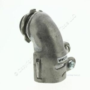 10 Midwest Electric 1 2 90 degree Non insulated Conduit Connectors Clamp 736