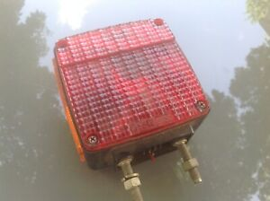 Vintage Bus Truck Turn Signal Lamp Grote 9150 Double Sided Red Amber Light