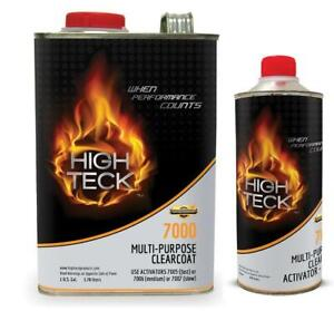 High Teck 7000 High Gloss Multi Purpose Clearcoat Gallon Kit With Medium Act