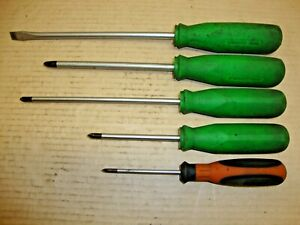 Matco Tools Witte Lot Of 5 Phillips Flat Screwdrivers