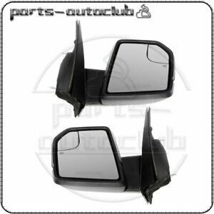 Fits For 2015 2018 Ford F 150 Power Heated Turn Signal Left right Side Mirror