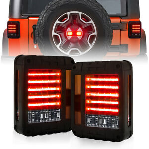 Transparent Cover Led Tail Lights For 2007 2018 Jeep Wrangler Jk Jku Unlimited