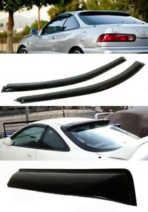 Fit Integra Window Wind Sun Visor Guard Diffuser Rear Roof Visor Spoiler Wing