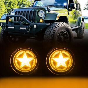 Five Star Turn Signal Lights For 07 18 Jeep Wrangler Jk Jku Unlimited Smoked