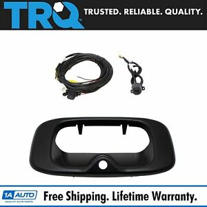 Rear View Backup Camera Addon Kit W Wiring Handle Bezel For Silverado Sierra
