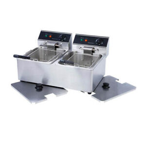 Electric Counter top Dual Tank Fryer 110v 3300w