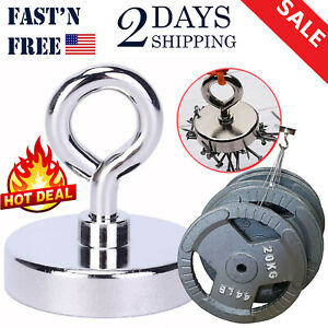 Magnet Fishing 300lbs Holding Power 2 Inches Neodymium Rare Earth Magnet Lifting