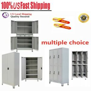 Office Filing Cabinet With Metal Gray Storage Organizer Container Multiple Types