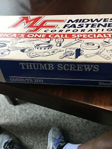 Midwest Fastener Steel Thumb Screws Assortment 6 32 Thru 3 8 Diameter 60500