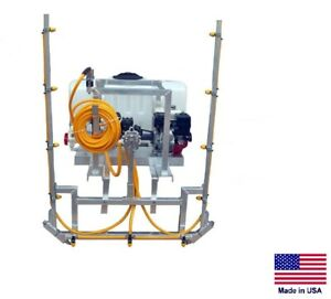 Sprayer Commercial Skid Mounted 6 Gpm 290 Psi 12 Ft Boom 50 Gallon Tank