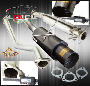 02 06 Acura Rsx Type s Dc5 N1 Style 2 5 Catback Exhaust System Muffler Gunmetal
