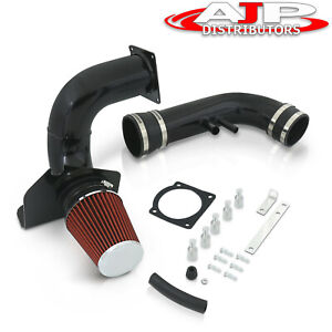 1996 2004 Ford Mustang V8 4 6l Black Piping Cold Air Intake System W Filter