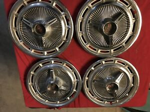 1965 Chevy Impala Super Sport Spinner Hubcaps Wheel Covers Set 14