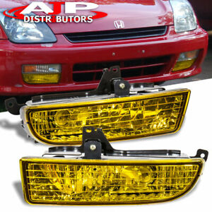 Amber Driving Bumper Fog Lights Lamps Wiring Switch For 1997 2001 Honda Prelude