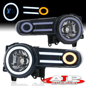 Clear Black Housing Projector Led Drl Headlights Lamps For 2007 2014 Fj Cruiser
