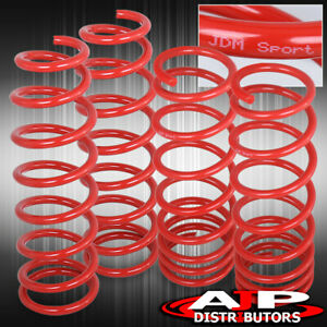 Red Jdm 2 Drop Suspension Lowering Springs Kit For 1992 2000 Honda Civic Eg Ek