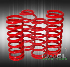 1979 2004 Ford Mustang Gt V6 V8 Red Lowering Spring Lower Kit Set 1999