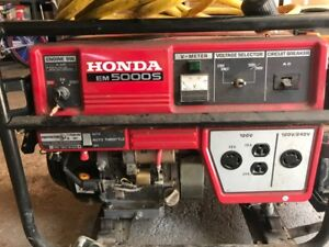 Honda Em5000s Gas Powered Generator With Power Cord Local Pickup