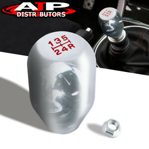 92 95 Honda Civic Del Sol Jdm Manual 5 Speed Threaded Racing Shift Knob Silver