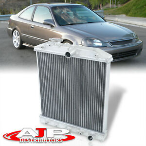 A t Automatic Transmission 2 row Aluminum Radiator For 1988 2000 Civic Del Sol