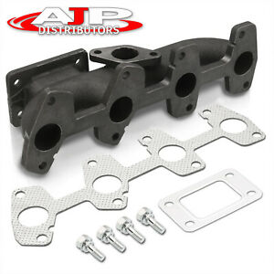 T3 t4 Turbo Flange Cast Iron Exhaust Header Manifold For Chevy S10 Cavalier 2 2l