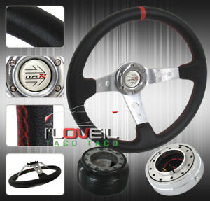 350mm Detachable Steering Wheel Kit polish Quick Release Hub Adapter Button