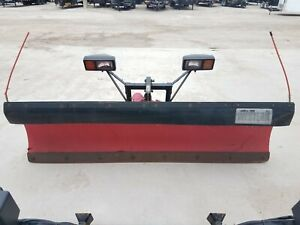 Up203 Used Western Unimount 8 Poly Straight Blade Snow Plow