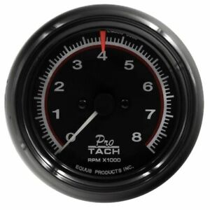 Equus 3 3 8 Inch Black Faced Mechanical Electrical Tachometer 6088 0 8000 Rpm
