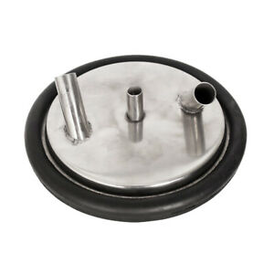 Stainless Steel Material Milk Bucket Pail Lid Gasket Cover With 3 Entrances