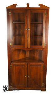S J Bailey Sons Mastercraft Pine Corner Cabinet Cupboard Early American Style