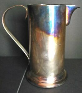 Vintage Silver Plated Water Tankard Poole Silver Co With Handle Circa 1960 S