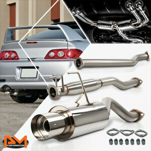 For 02 06 Acura Rsx Dc5 Non Type s K20a3 4 Tip Muffler Racing Catback Exhaust