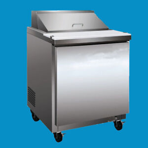 Stainless Steel Commercial Salad Sandwich Prep Table Cooler 110v 60hz