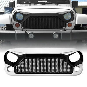 Front Gladiator Grille Guard For 07 18 Jeep Wrangler Jk Jku Abs Black