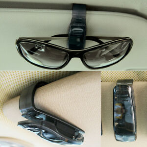 Black Plastic Car Sedan Visor Sun Shield Eyeglass Ticket Sunglasses Holder Clip