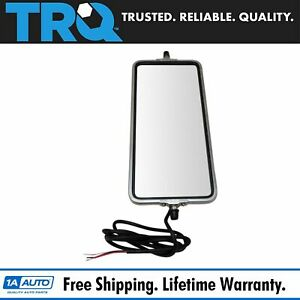 Trq 16 X 7 Stainless Steel West Coast Mirror Heated Turn Signal Bubble Back