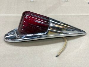 Nos Griffin 110 Vintage Marker Light Fender Red Glass Lens Truck Cab Clearance